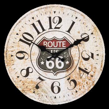 Wanduhr Route 66, Ø 30cm * 3cm
