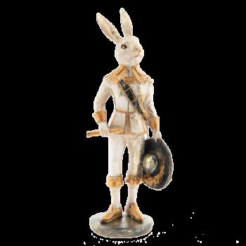 Kaninchen mit Hut, 7x7x23cm