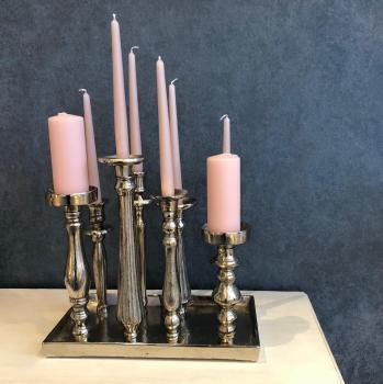 Kerzenhalter 8fach auf Platte